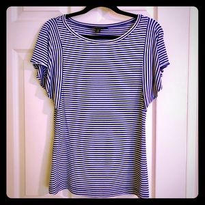 Banana Republic blue and white striped shirt